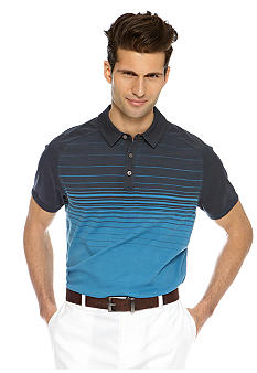 MADE Cam Newton Travis Teal Ombre Stripe Polo