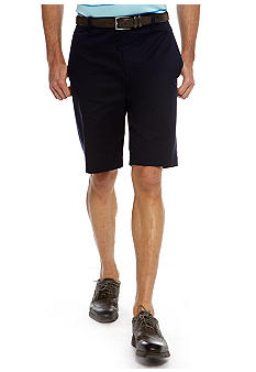MADE Cam Newton Navy Flat Front Shorts