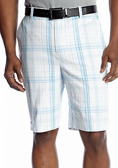 MADE Cam Newton Wolf Plaid Flat Front Short