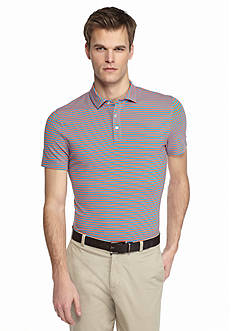 MADE Cam Newton Short Sleeve Stretch Striped Polo Shirt