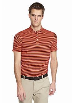 MADE Cam Newton Short Sleeve Stretch Striped Polo Shirt
