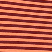 MADE Cam Newton: Coral Stripe MADE Cam Newton Short Sleeve Stretch Striped Polo Shirt