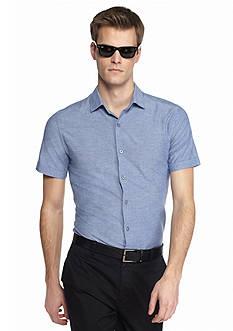 MADE Cam Newton Short Sleeve Neps Woven Shirt