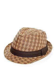Colombino Straw Fedora Hat