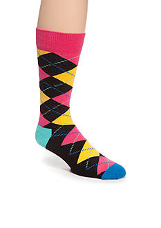 Happy Socks Argyle Bright Crew Socks - Single Pair