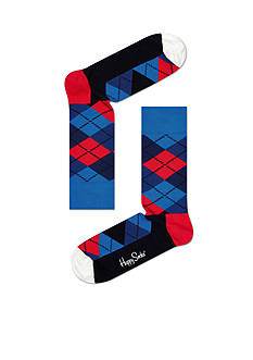 Happy Socks Men's Argyle Crew Socks - Single Pair