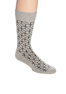 Happy Socks Men's Optic Print Athletic Crew Socks - Single Pair