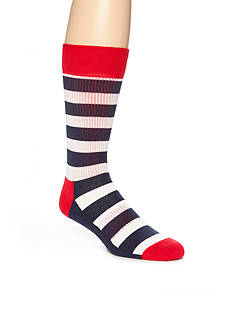 Happy Socks Striped Athletic Socks - Single Pair
