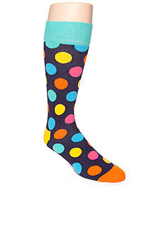 Happy Socks Bright Large Dot Crew Socks - Single Pair