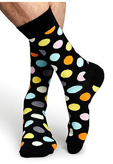 Happy Socks Large Dot Crew Socks - Single Pair