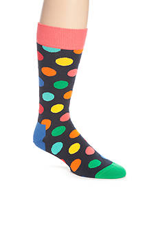 Happy Socks Men's Big Dot Crew Socks - Single Pair