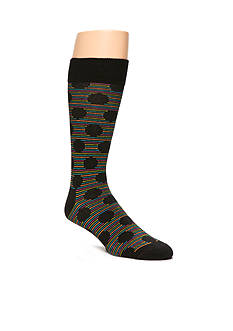 Happy Socks Men's Big Dot Print Crew Socks - Single Pair