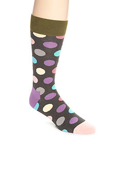 Happy Socks Men's Big Dot Crew Socks - Single Pair
