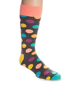 Happy Socks Men's Big & Tall Big Dot Crew Socks - Single Pair