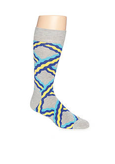 Happy Socks Men's Chain Print Crew Socks - Single Pair