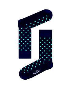 Happy Socks Men's Dot Crew Socks - Single Pair