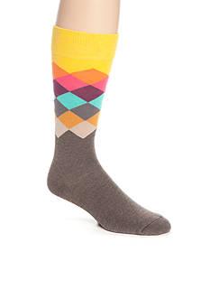 Happy Socks Men's Faded Diamond Crew Socks - Single Pair