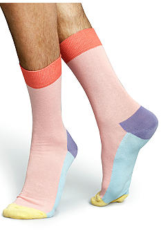 Happy Socks Color Block Crew Socks - Single Pair