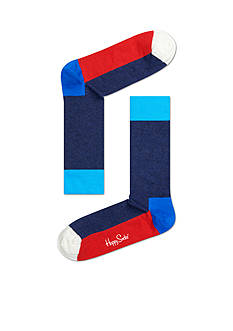 Happy Socks Men's Five Color Crew Socks - Single Pair