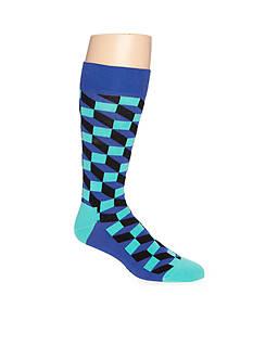 Happy Socks Men's Filled Optic Crew Socks - Single Pair