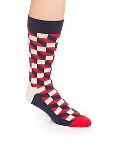 Happy Socks Men's Filled Optic Crew Socks - Single Pair