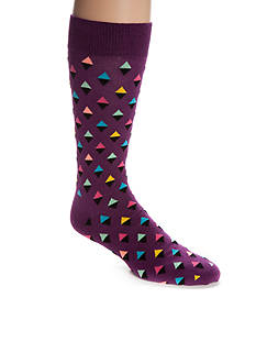Happy Socks Men's Big & Tall Mini Diamond Crew Socks - Single Pair