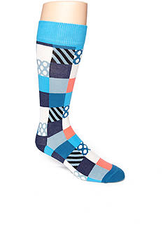 Happy Socks Mini Square Crew Socks - Single Pair