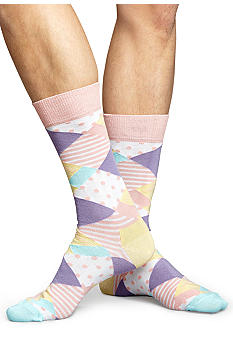 Happy Socks Pastel Argyle Crew Socks - Single Pair
