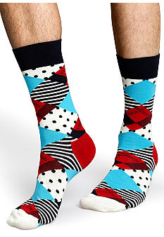 Happy Socks Argyle Crew Socks - Single Pair