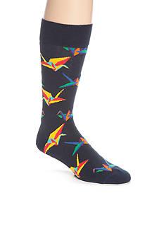 Happy Socks Men's Origami Crew Socks - Single Pair