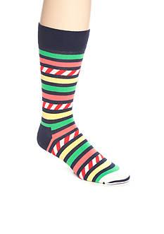 Happy Socks Men's Stars & Stripes Bright Crew Socks - Single Pair