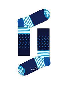 Happy Socks Men's Stripe & Dot Crew Socks - Single Pair