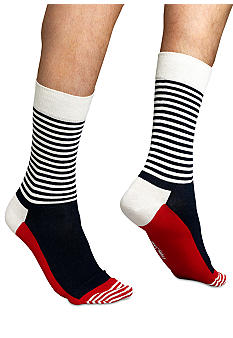 Happy Socks Stripe Half Crew Sock