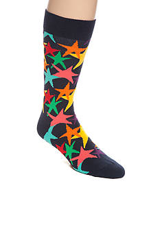 Happy Socks Men's Bright Stars Crew Socks - Single Pair