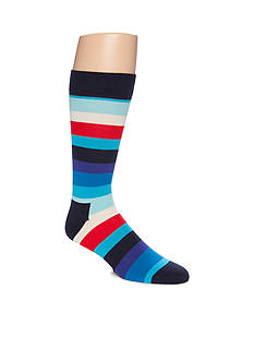 Happy Socks Men's Multi-Stripe Crew Socks - Single Pair