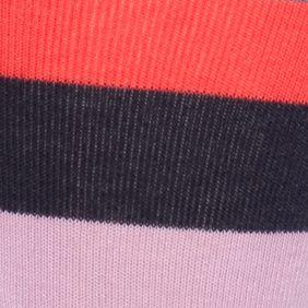 Guys Fashion Trends: Happy Socks: Navy Combo Happy Socks Men's Stripe Crew Socks - Single Pair