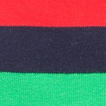 Guys Fashion Trends: Happy Socks: Navy/Bright Happy Socks Men's Stripe Crew Socks - Single Pair