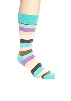 Happy Socks Men's Rugby Stripe Crew Socks - Single Pair
