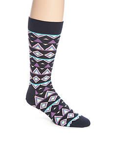 Happy Socks Men's Purple Temple Crew Socks - Single Pair