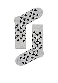 Happy Socks Men's Big & Tall Triangle Print Crew Socks - Single Pair