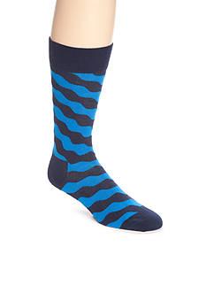 Happy Socks Men's Wavy Crew Socks - Single Pair