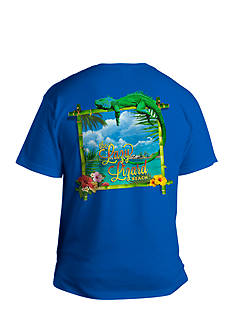 Saddlebred Big & Tall The Lazy Lizard Beach Graphic Tee