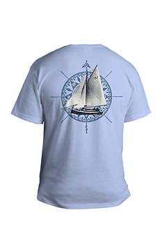 Saddlebred Big & Tall Sail-Away Short Sleeve Graphic Tee