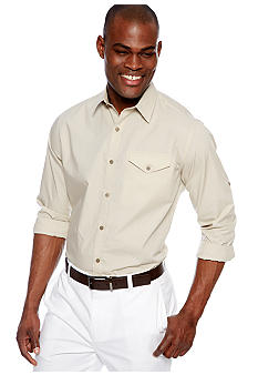 MADE Cam Newton Big & Tall Puddy Solid Woven Shirt