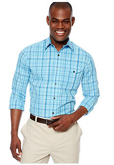 MADE Cam Newton Big & Tall Taruit Turq Plaid Woven Shirt