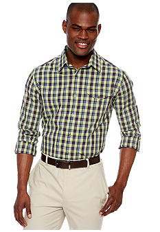 MADE Cam Newton Big & Tall Lime Med Gingham Woven Shirt