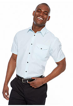 MADE Cam Newton Scout Light Blue Short Sleeve Woven Shirt
