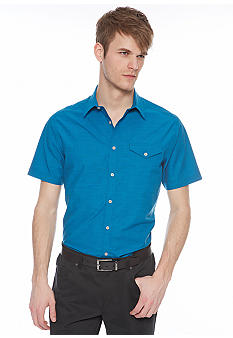 MADE Cam Newton Scout Teal Short Sleeve Woven Shirt