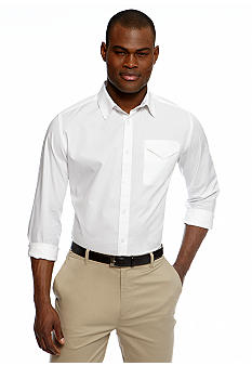 MADE Cam Newton White Solid Roll Tab Shirt