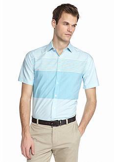 MADE Cam Newton Short Sleeve Colorblock Stripe Shirt